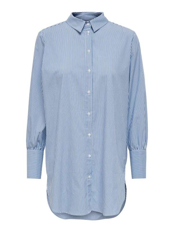 Camisa Rayas Mujer Only 15241066 ONLNELLY LIFE L/S LONG SHIRT WVN