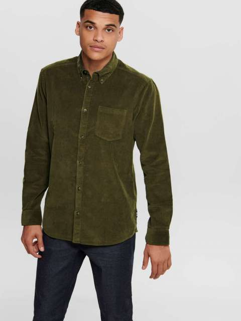 Camisa Pana Hombre Only & Sons 22015049 ONSGEORG LS SOLID CORDUROY SHIRT