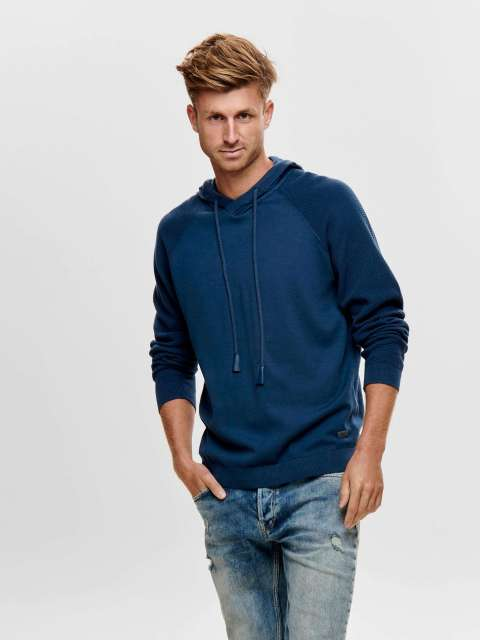 Jersey Punto Capucha Only & Sons 22013572 ONSPIETER 12 RAGLAN HOODIE KNIT