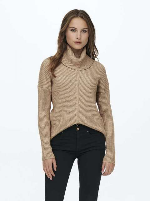 Jersey Punto canalé Mujer Only 15232493 ONLKATIA L/S COWLNECK PULLOVER CC KNT
